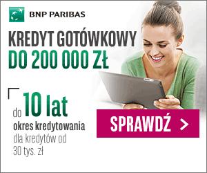 kredyt gotówkowy od BGŻ BNP Paribas