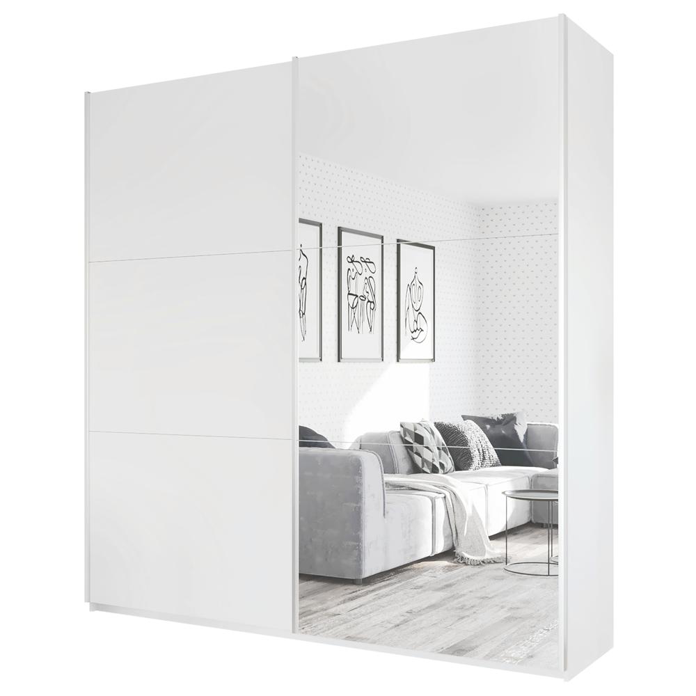 Kleiderschrank RELLA 225 cm mit Spiegel