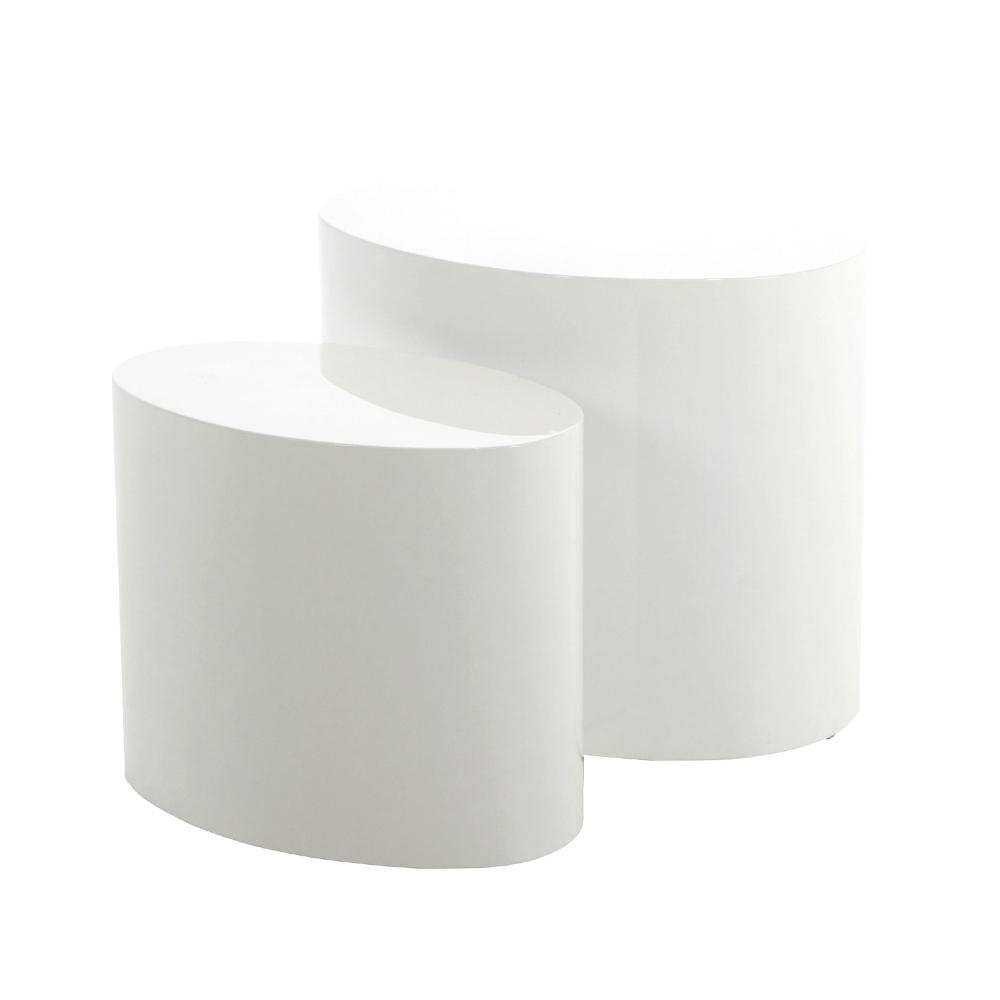 Beistelltisch PLOMIN 2er-Set weiß