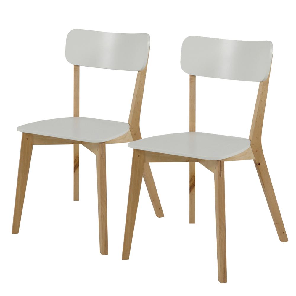 Stuhl JAZINA 2-er Set weiß