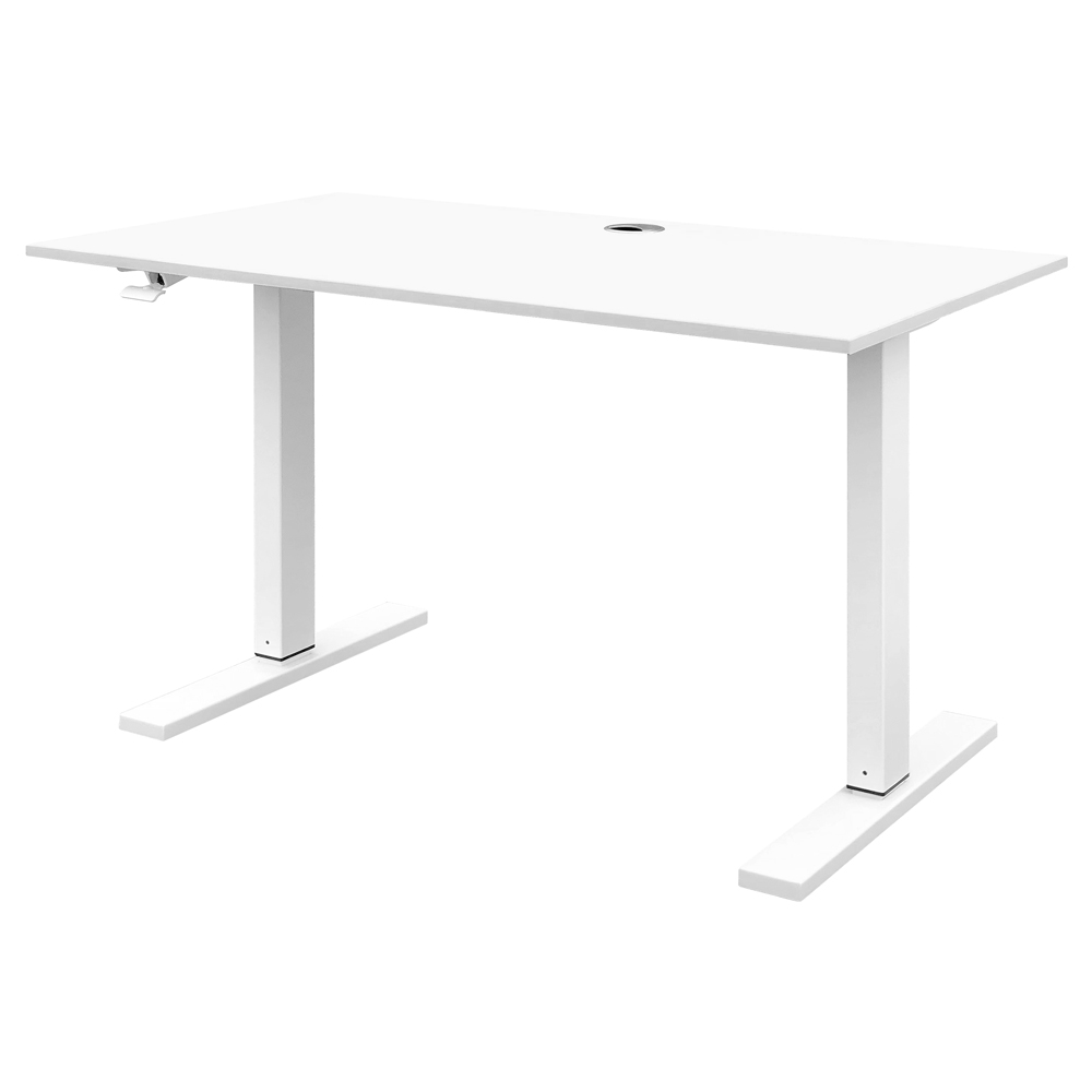 Schreibtisch KONANI weiß höhenverstellbar