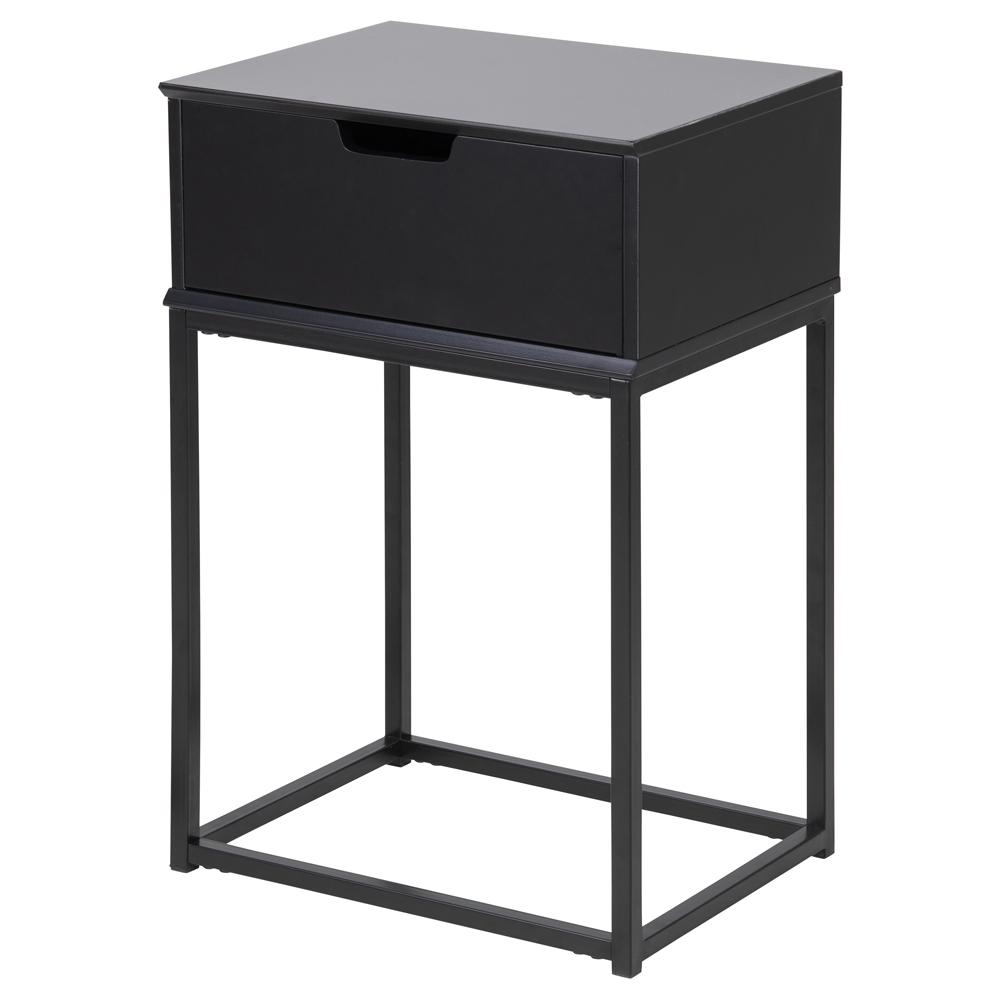Nachttisch MAUDINE schwarz mit Schublade