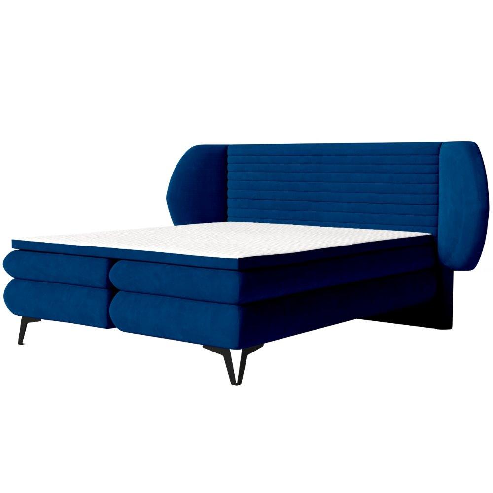 Boxspringbett CERMONE mit horizontaler Steppung und Bettkasten