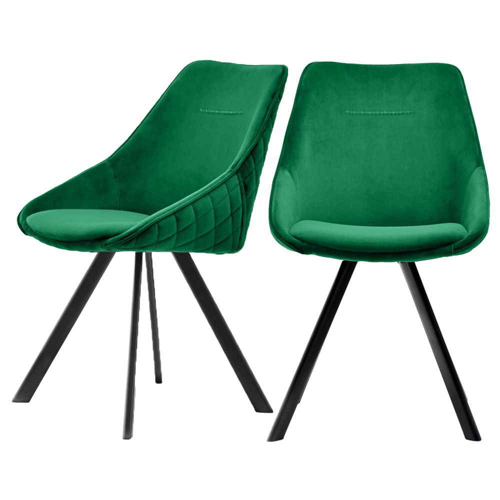 Polsterstuhl JAREL 2er-Set grün