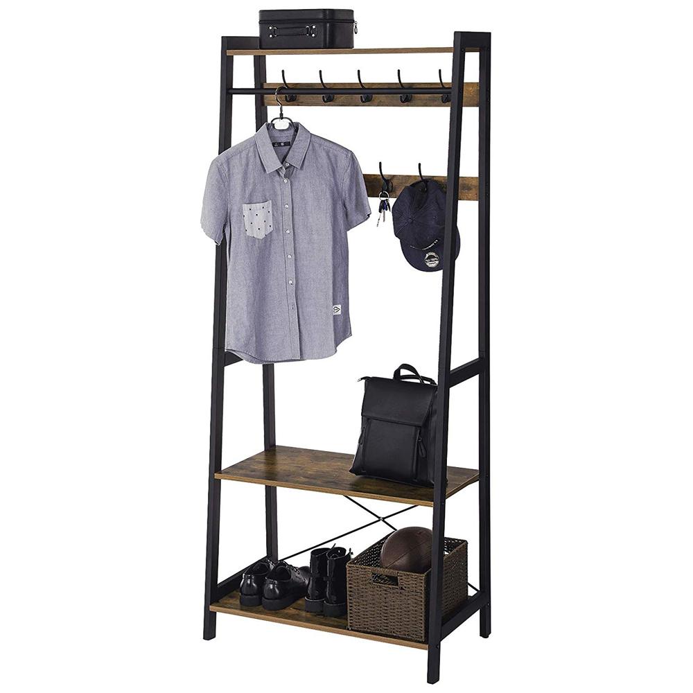 Garderobe RAMIZU mit Haken und Ablagen
