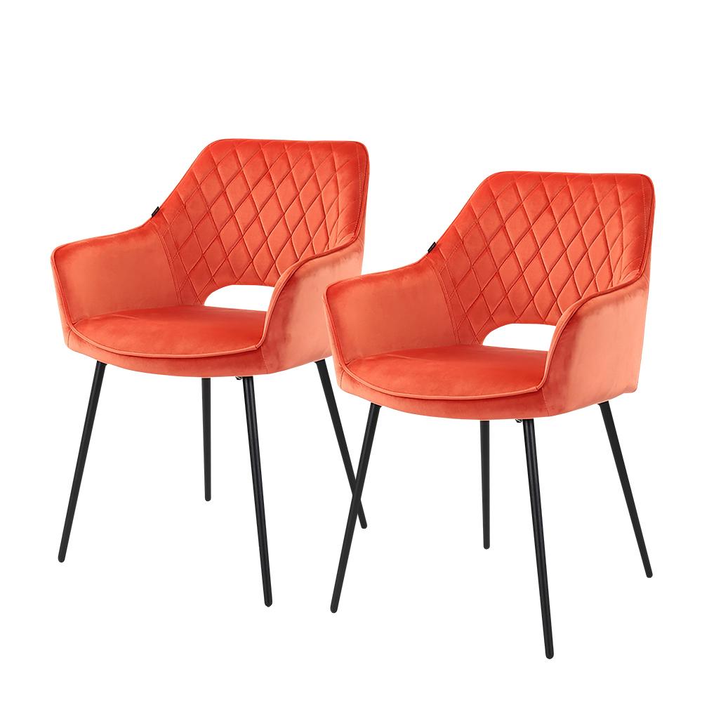 Polsterstuhl MERIVA 2er-Set Orange