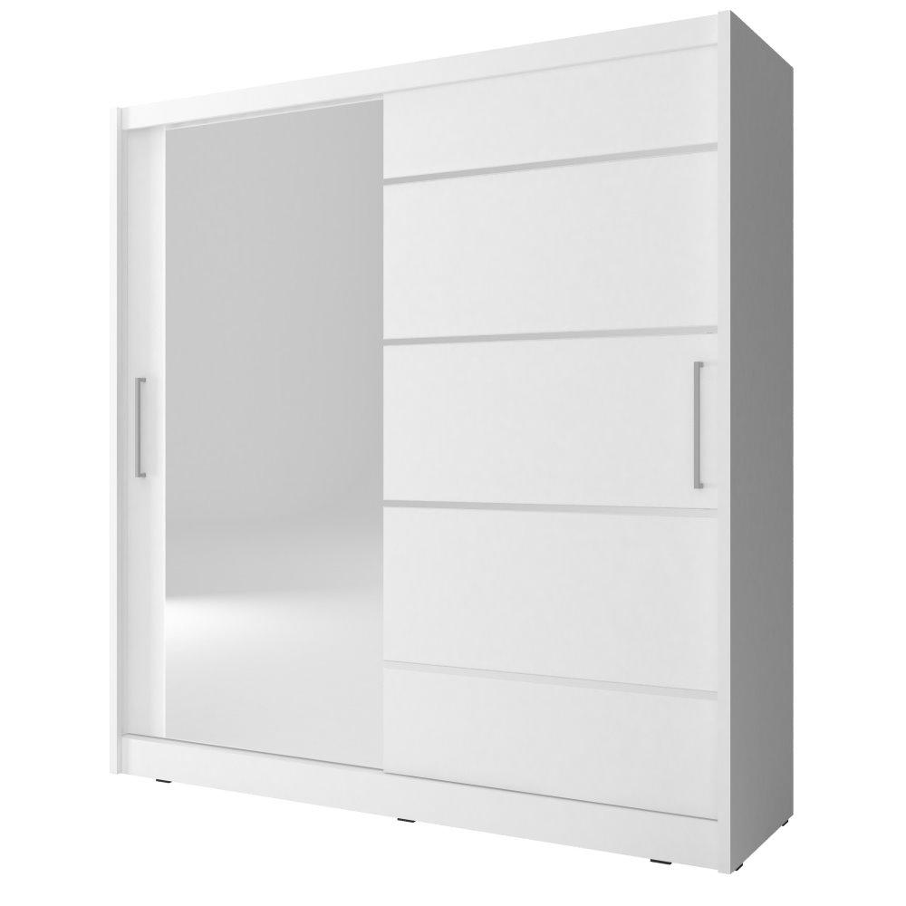 Kleiderschrank ELFLOCK mit Spiegel und Aluminiumeinsätzen