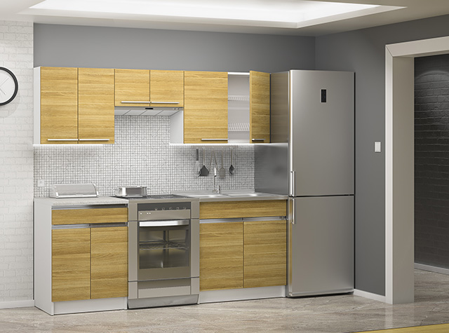MODERN Complete Kitchen Set of 5 Cabinets Units with   -> Kuchnia Sara Sonoma