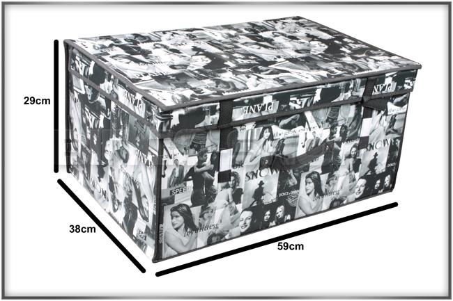 aufbewahrung organizer 11 muster textilbox xxl f 160 ebay. Black Bedroom Furniture Sets. Home Design Ideas