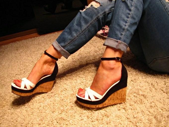 damenschuhe plateau pumps sandalen wedges keilabsatz high. Black Bedroom Furniture Sets. Home Design Ideas