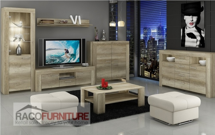 Tv Wall Unit Sky New Modern Set Of Living Room Furniture Free Delivery Ebay