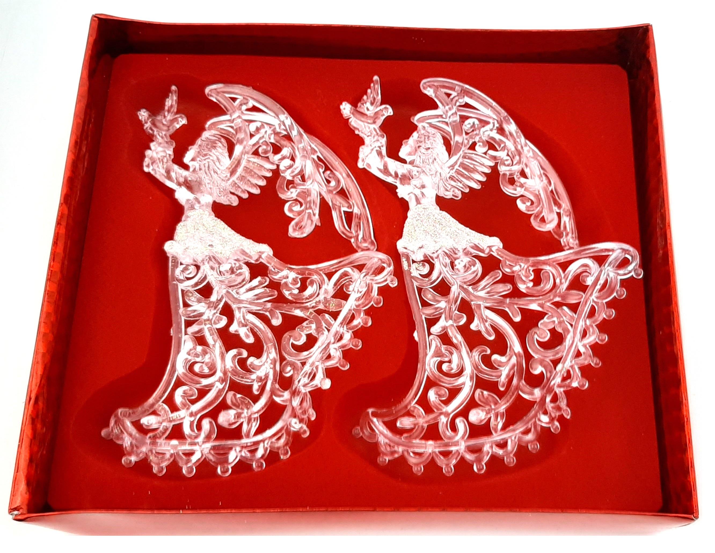 Zawieszka anioł aniołki na choinkę w pudełku 2 szt
