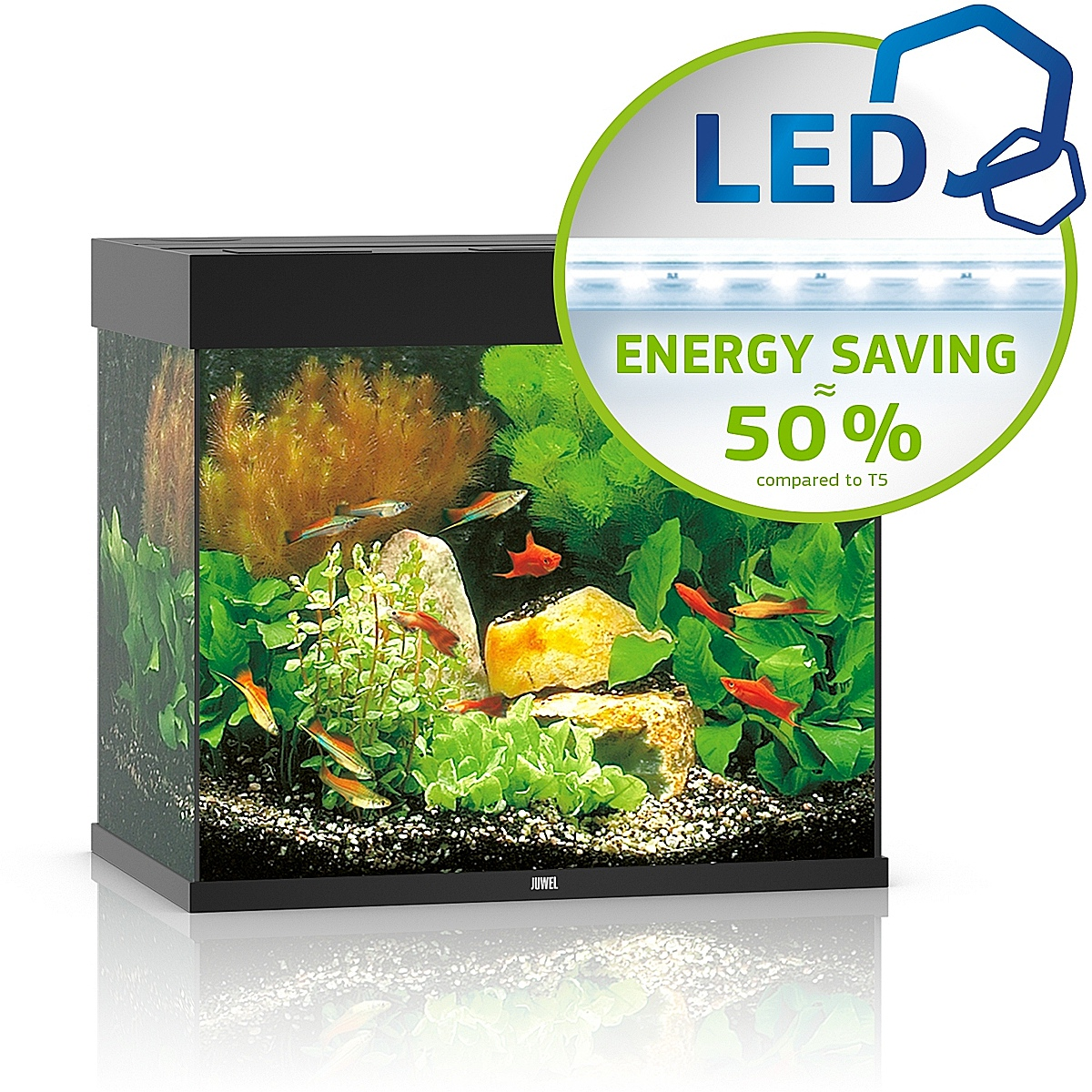 Juwel Lido 120 LED czarny - akwarium