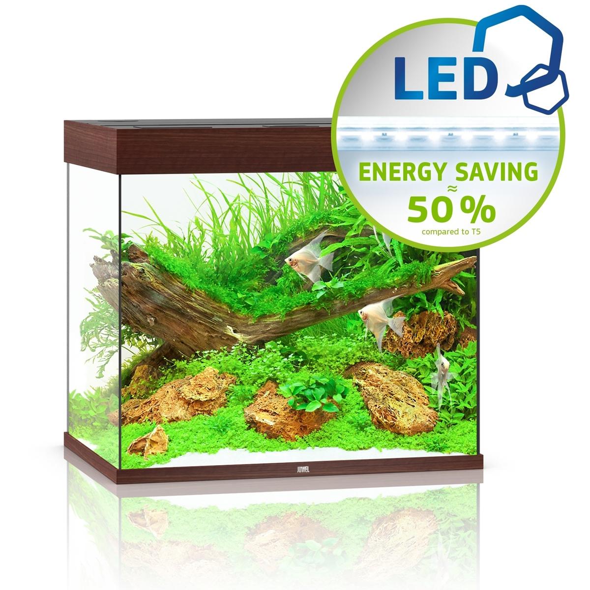 Juwel Lido 200 LED ciemne drewno - akwarium