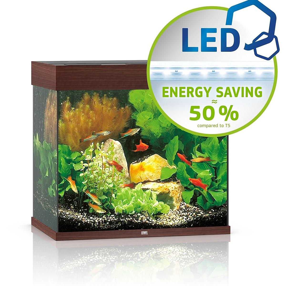 Juwel Lido 120 LED ciemne drewno - akwarium