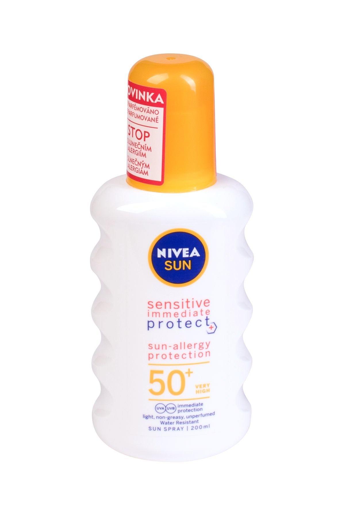 Nivea Sun Sensitive Protect SPF50 Sun-Allergy Preparat do opalania ciała 200 ml