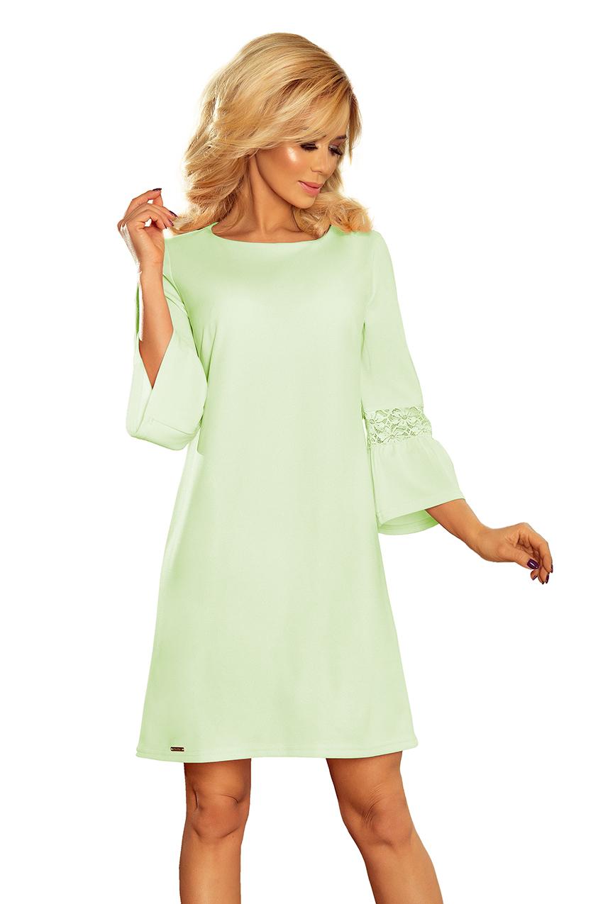 ac91214c72 Sukienka koronka rękawy PISTACJOWA zielona L 40