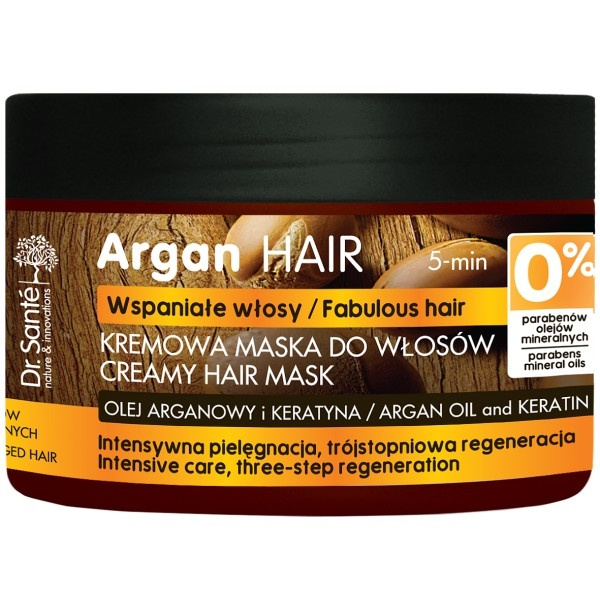 Dr.Sante Maska do włosów z olejem arganowym i keratyną 300 ml. DS3