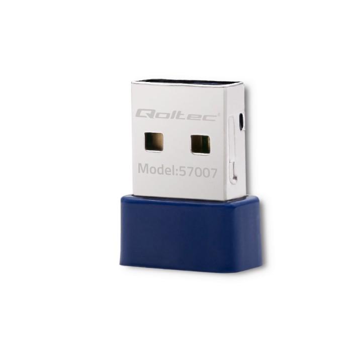 Qoltec Bezprzewodowy mini adapter WiFi Standard N   BT 4.0 USB (1)