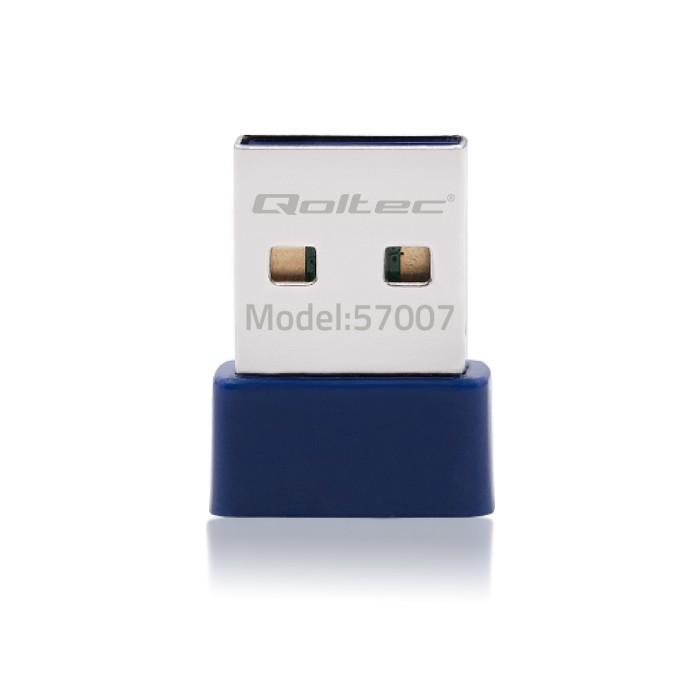 Qoltec Bezprzewodowy mini adapter WiFi Standard N   BT 4.0 USB (6)