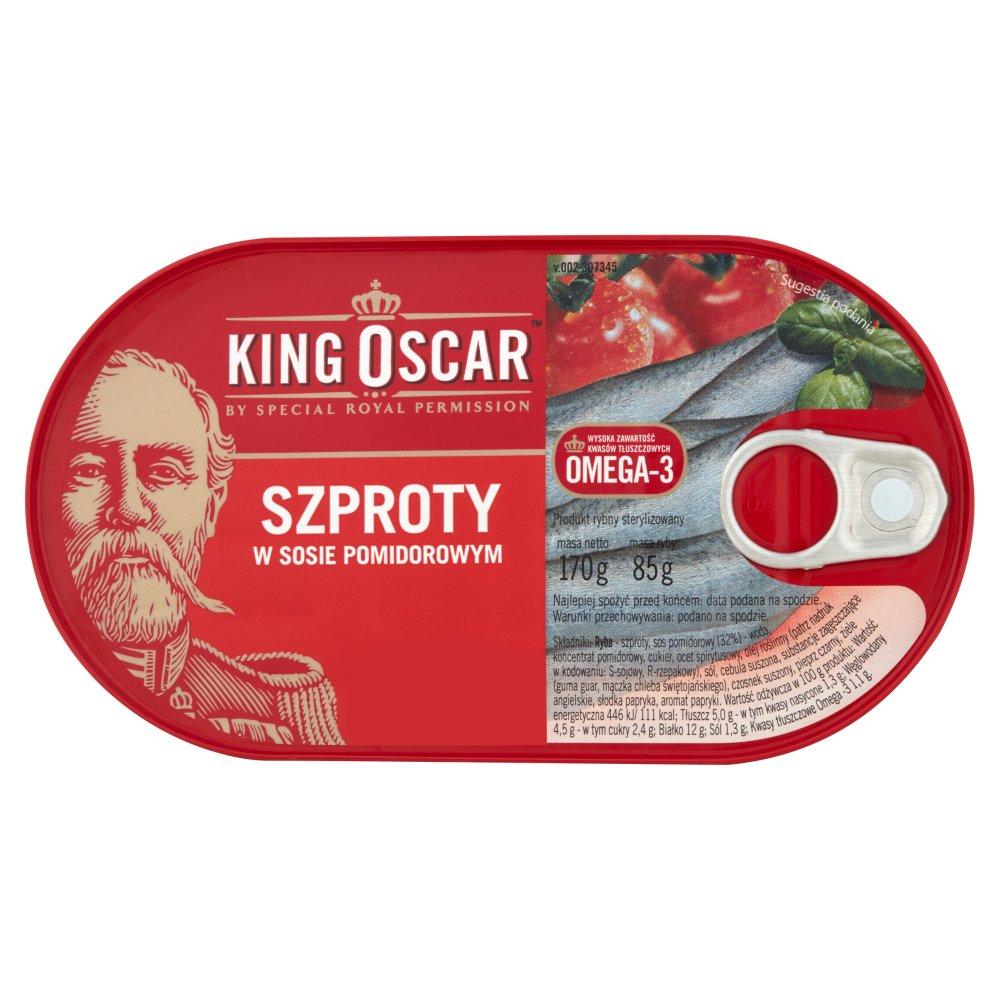 KING OSCAR Szproty w sosie pomidorowym (2)