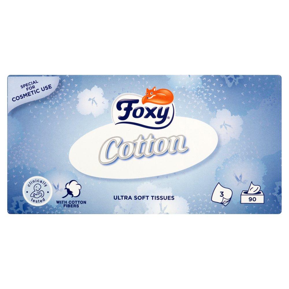 FOXY Cotton Ultra miękkie chusteczki 3 warstwy (2)