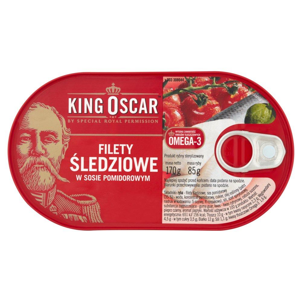 KING OSCAR Filety śledziowe w sosie pomidorowym (2)