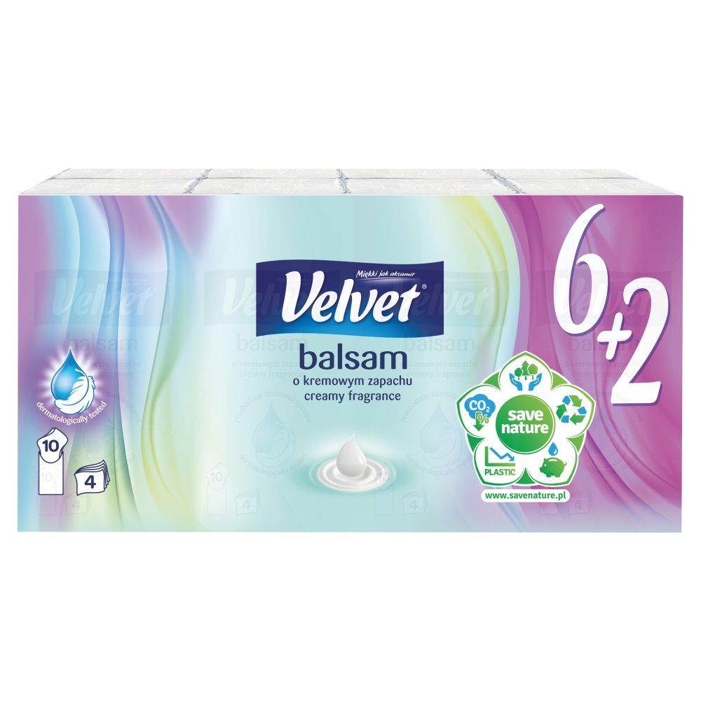 VELVET Balsam Chusteczki higieniczne o kremowym zapachu (8 x 10 szt.) (2)