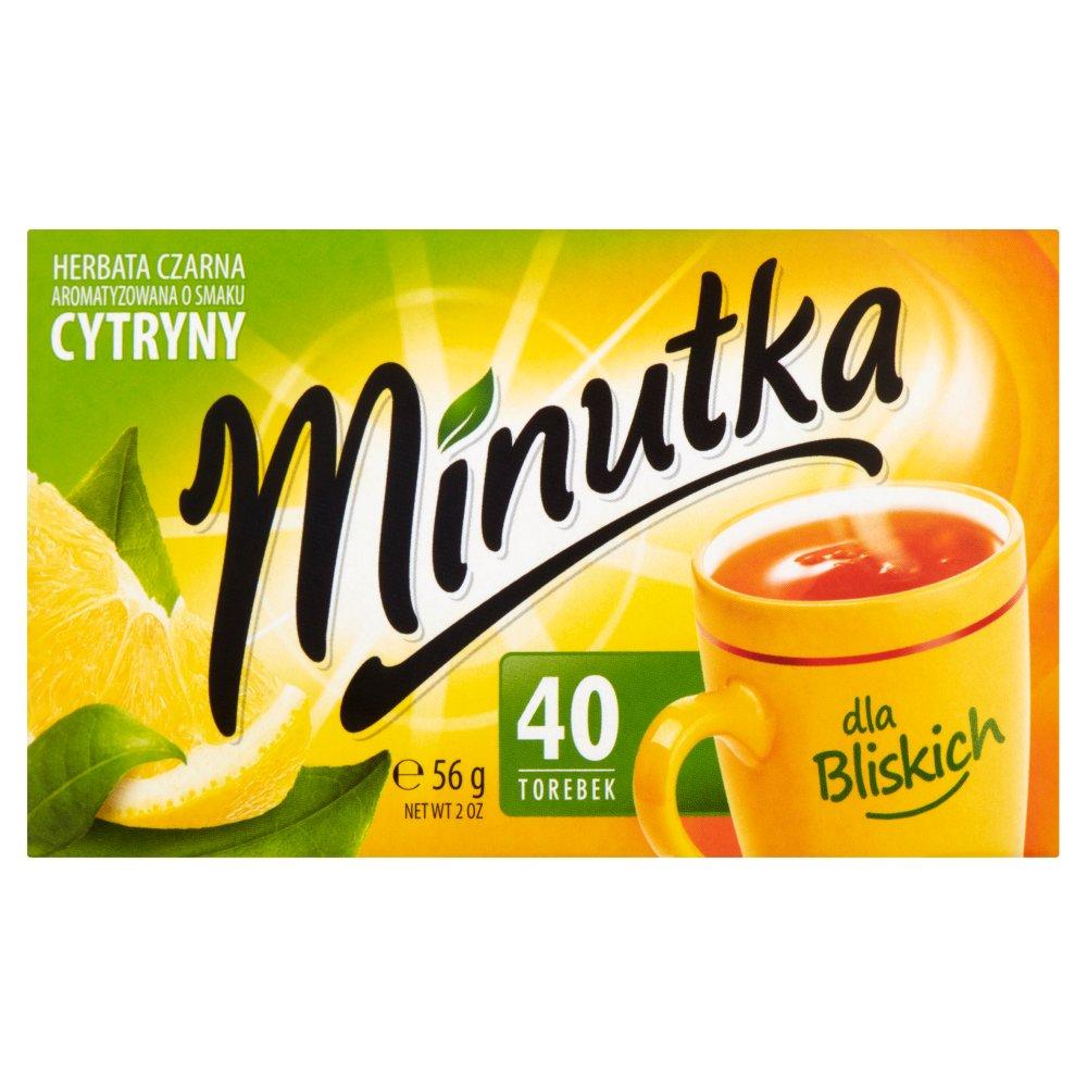 MINUTKA Herbata czarna aromatyzowana o smaku cytryny (40 tb.) (2)