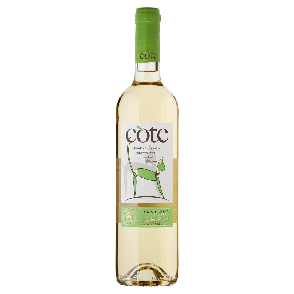 COTE Wino białe półwytrawne bułgarskie