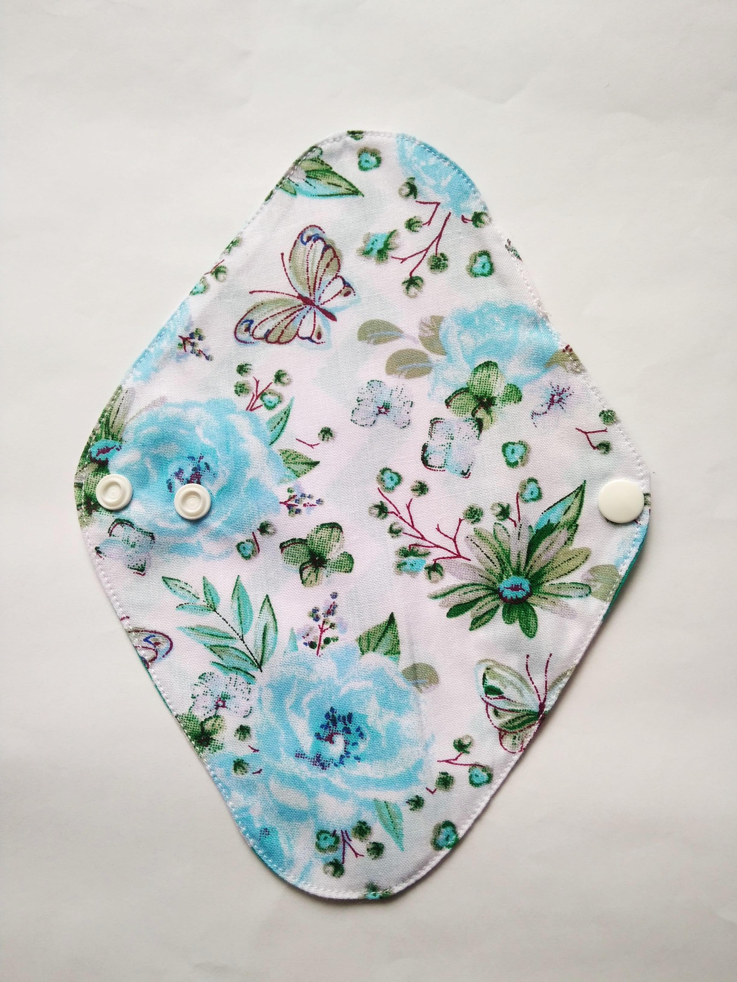 Wkładka higieniczna, wielorazowa, rozm. S, Niebieskie kwiatki, Dziobak (4)