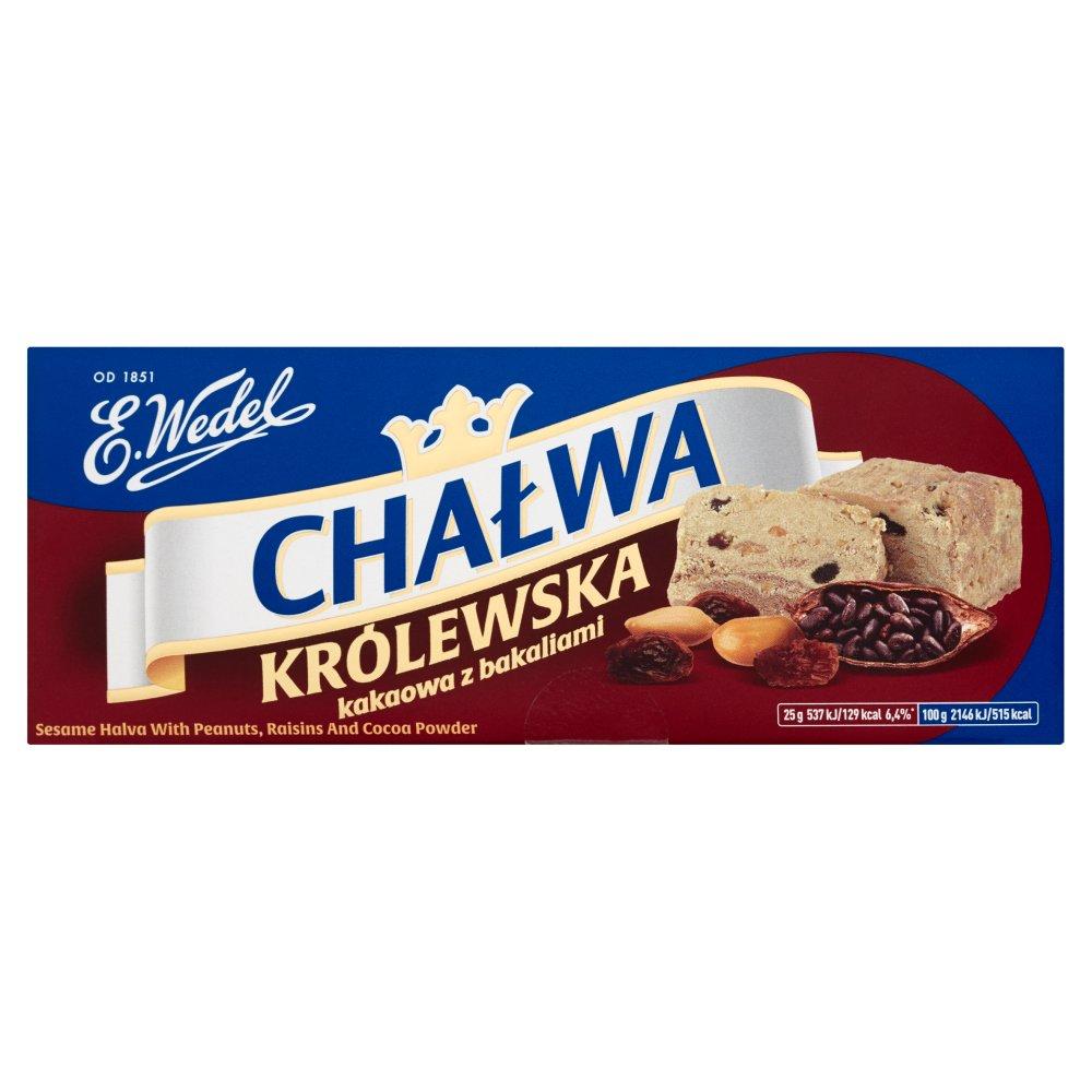 E. Wedel Chałwa Królewska kakaowa z bakaliami 250g (2)
