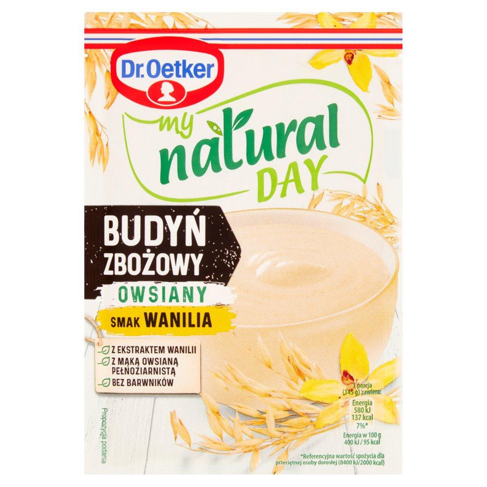 Dr. Oetker My Natural Day Budyń zbożowy owsiany smak wanilia 50g (2)
