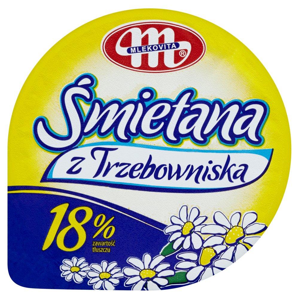 Mlekovita Śmietana z Trzebowniska 18% 250g (2)