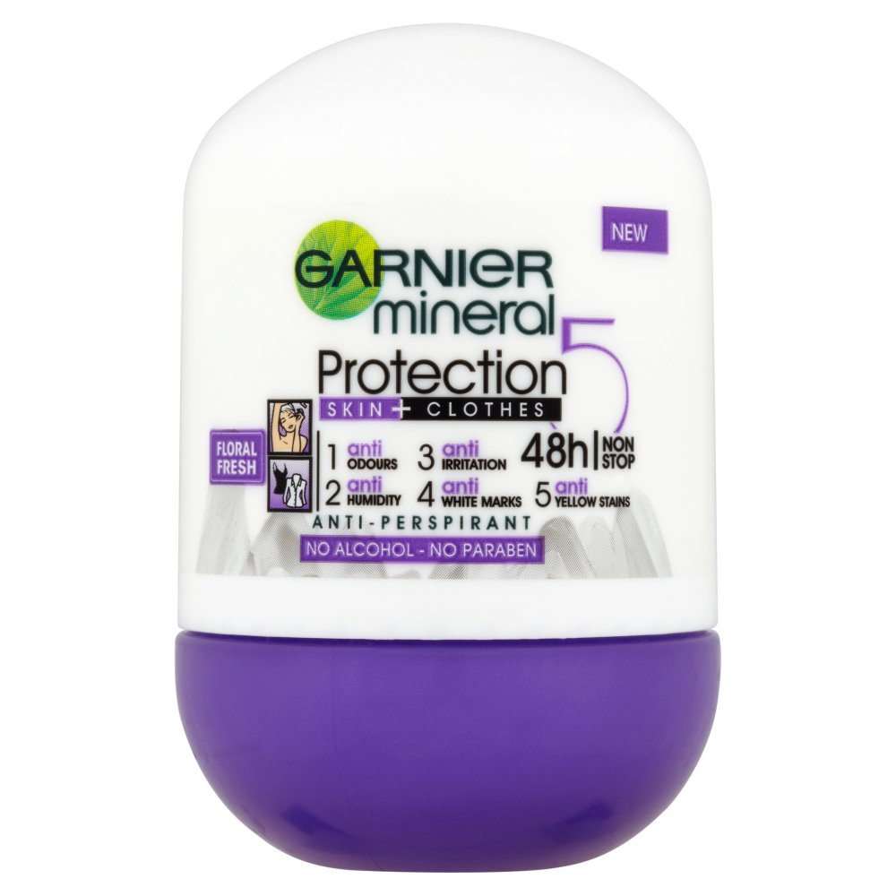 Garnier Mineral Protection 5 Floral Fresh Antyperspirant w kulce bez alkoholu 50ml
