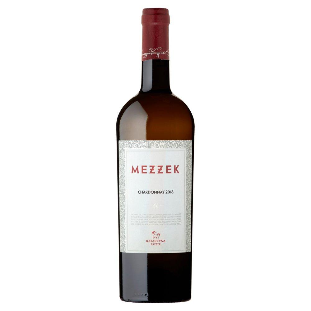 Mezzek Chardonnay Wino białe wytrawne bułgarskie 750ml (1)