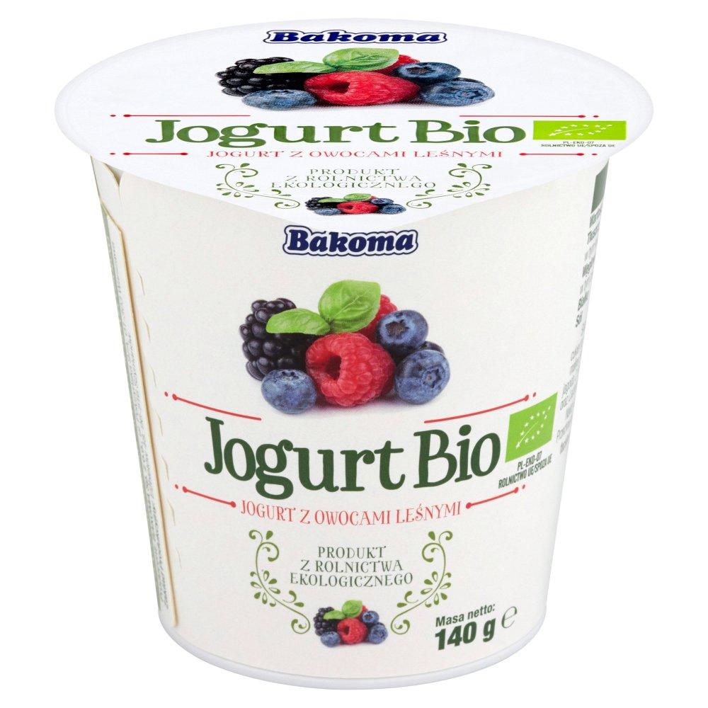 Bakoma Jogurt Bio z owocami leśnymi 140g