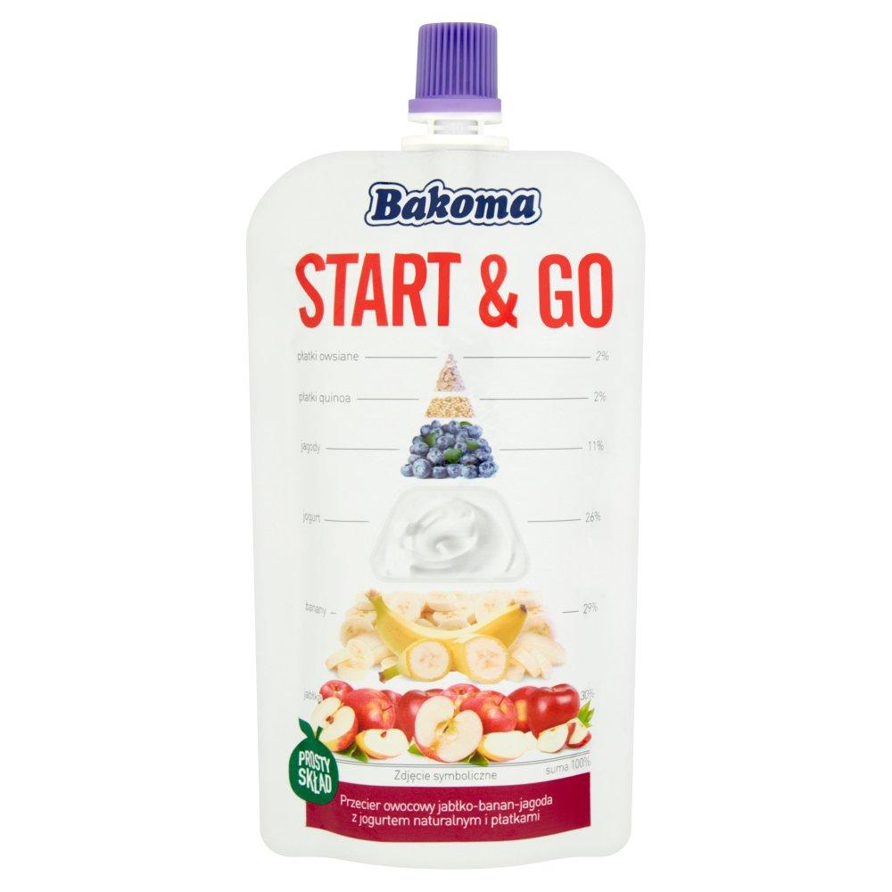 Bakoma Start & Go Przecier owocowy jabłko-banan-jagoda 120g (1)