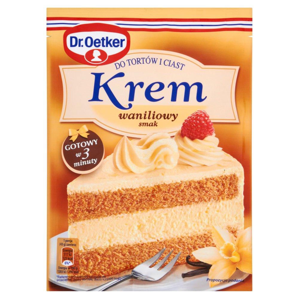 Dr. Oetker Krem do tortów i ciast smak waniliowy 120g (2)