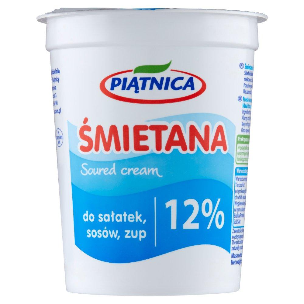 Piątnica Śmietana 12% 400g (2)