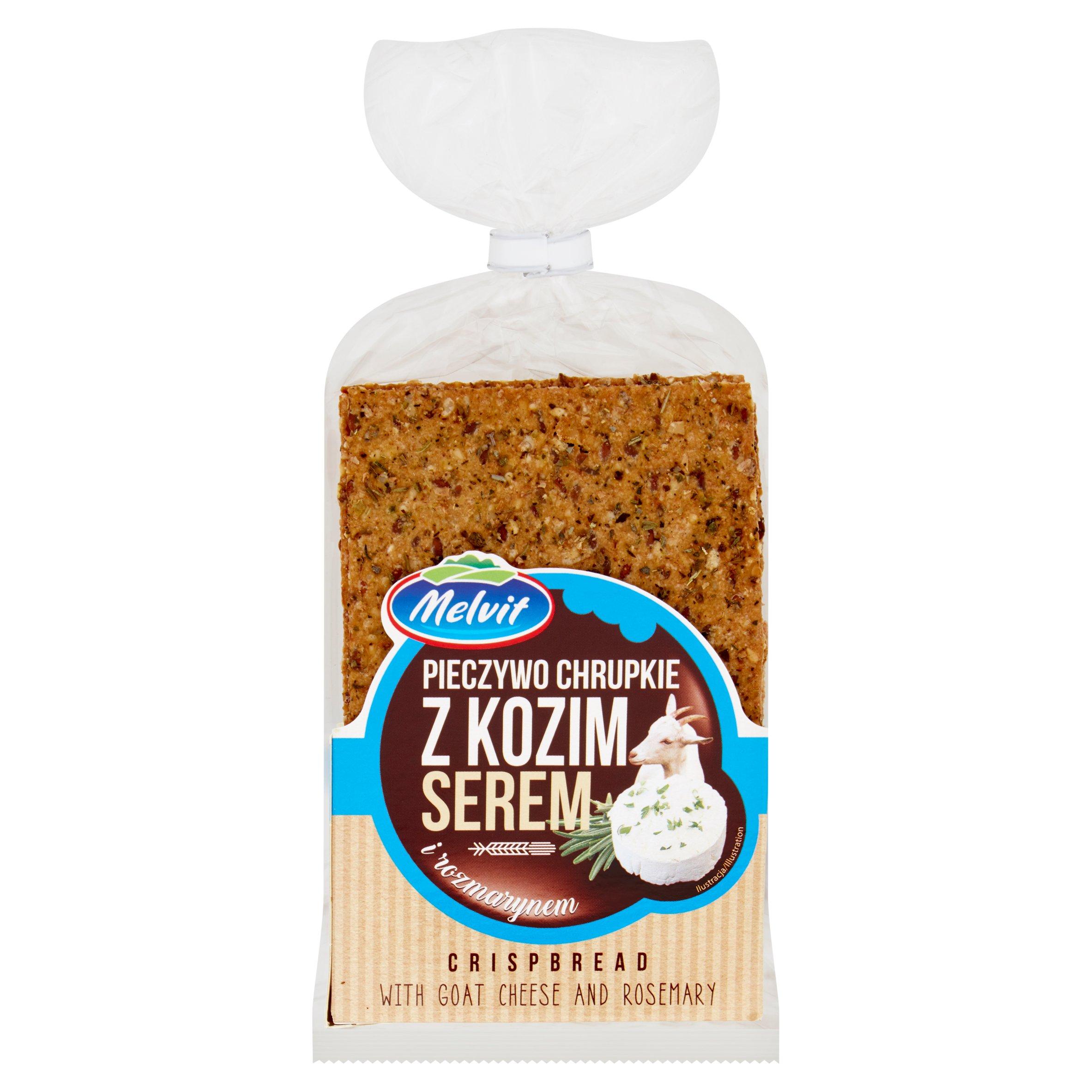 Melvit Pieczywo chrupkie żytnie z kozim serem i rozmarynem 130g (2)