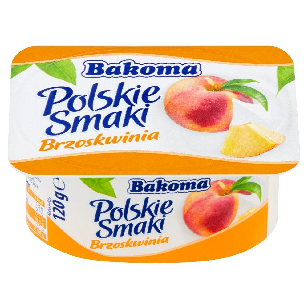 Bakoma Polskie Smaki Deser jogurtowy z brzoskwiniami 120g
