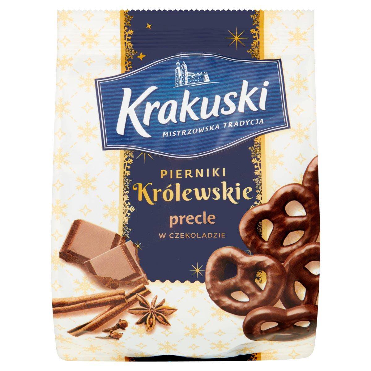 Krakuski Pierniki Królewskie Precle w czekoladzie 150g
