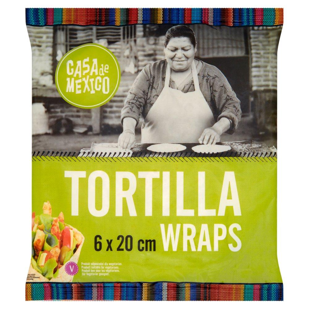 Casa de Mexico Placek pszenny tortilla 20 cm 240g (6szt) (2)