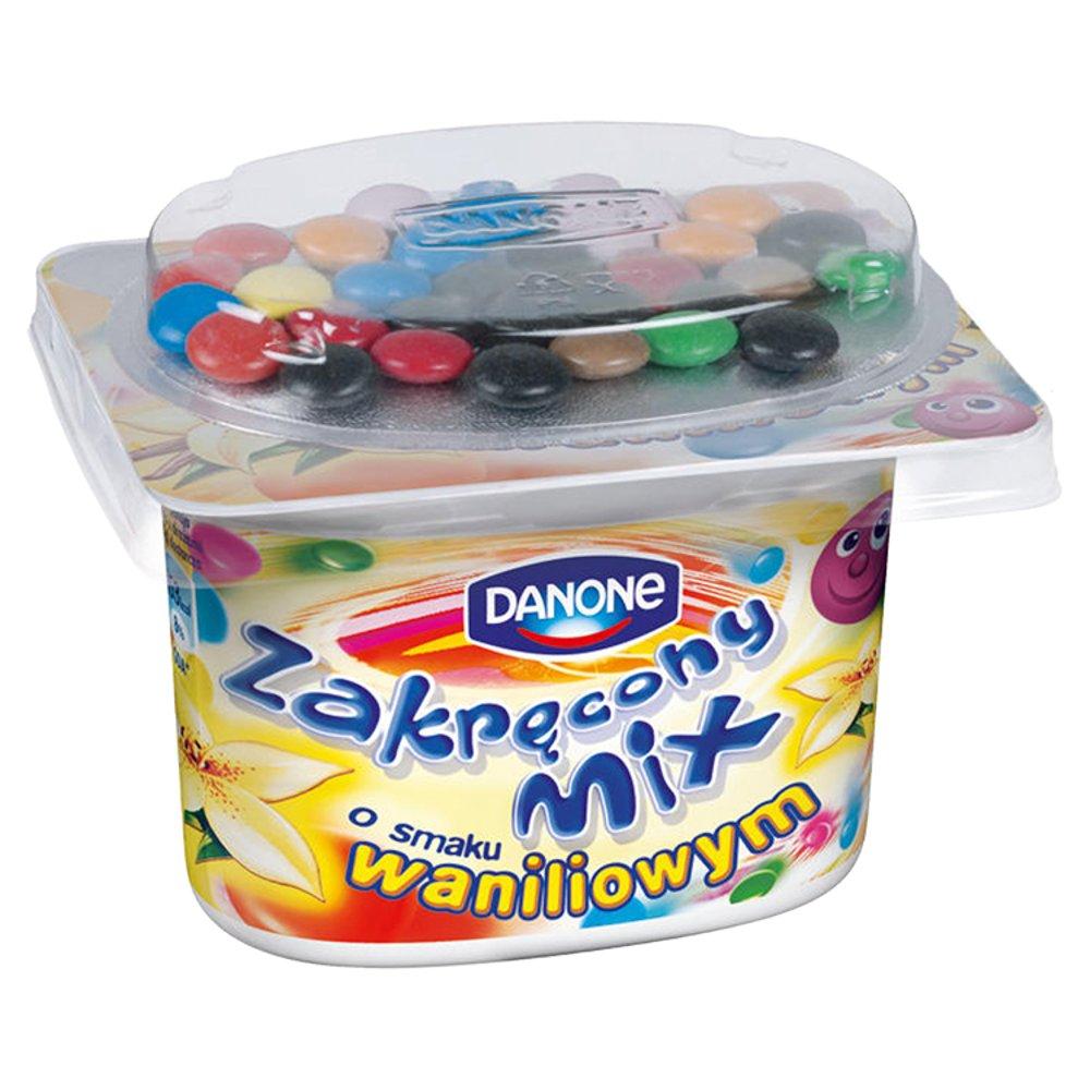 Danone Zakręcony Mix Jogurt o smaku waniliowym 125g