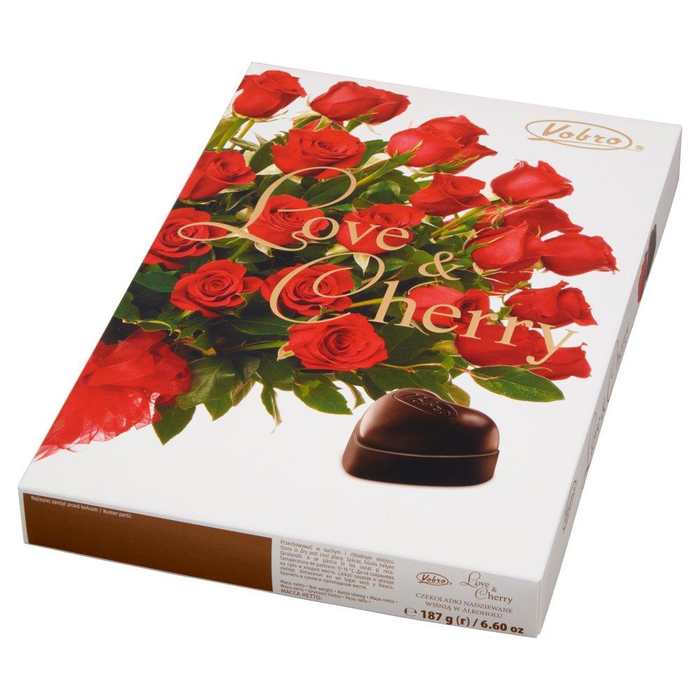 VOBRO Love & Cherry Bombonierka świąteczna Czekoladki z wiśnią w alkoholu (2)