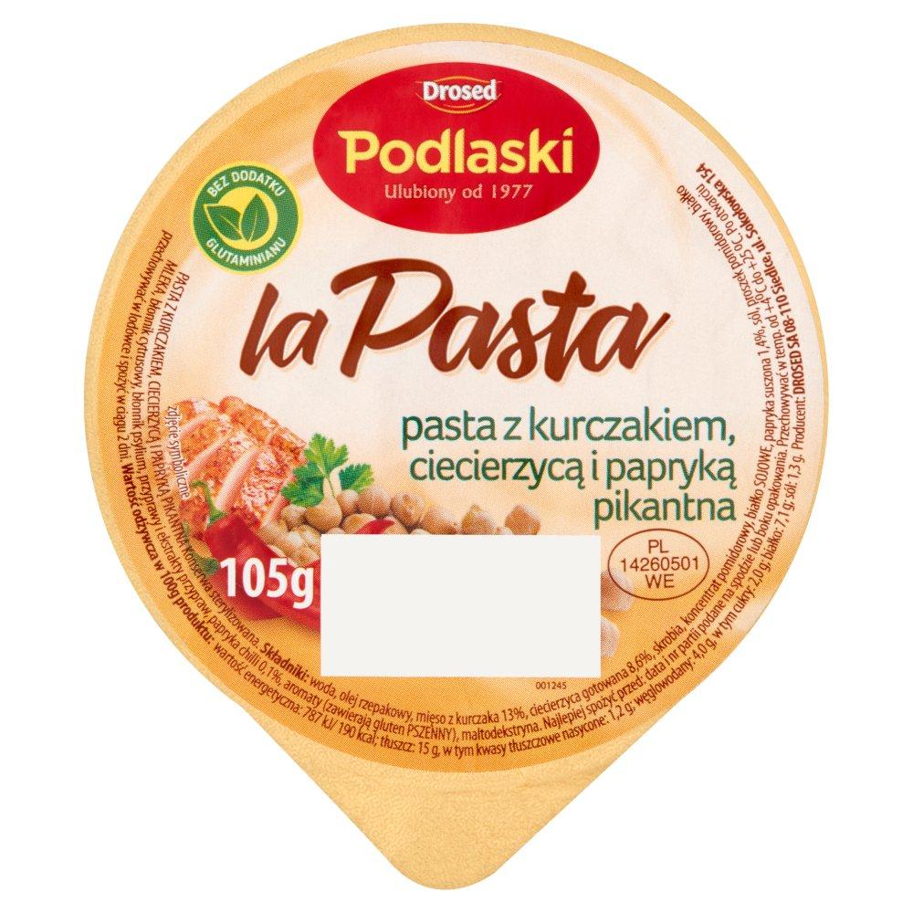 Drosed Podlaski la Pasta Pasta z kurczakiem ciecierzycą i papryką pikantną 105g (2)