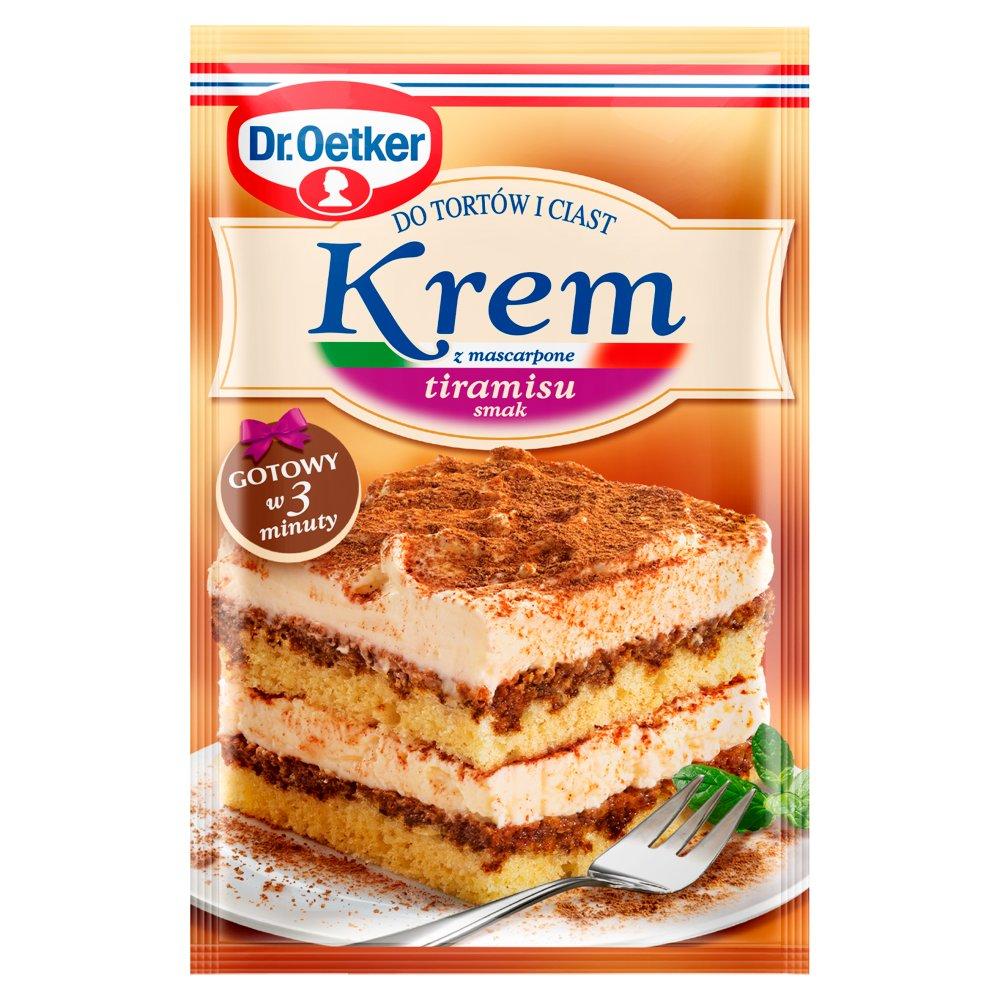 Dr. Oetker Krem do tortów i ciast z mascarpone smak tiramisu 122g (1)