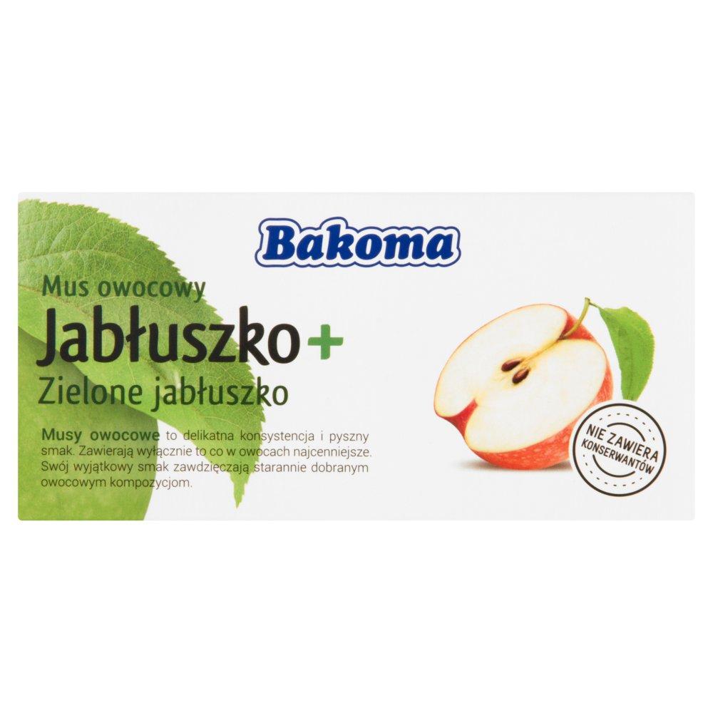 Bakoma Mus owocowy Jabłuszko + Zielone jabłuszko 200g (2szt) (2)
