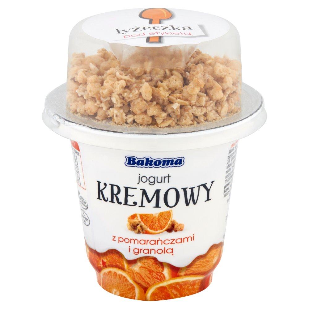 Bakoma Jogurt kremowy z pomarańczą i granolą 230g